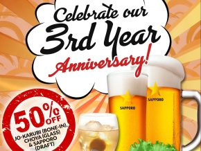 Celebrate Yokohama's 3rd Year Anniversary with a 50% off discount!