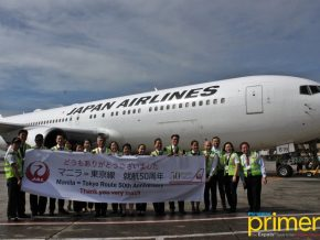 Japan Airlines celebrates 50 years of Manila-Tokyo line