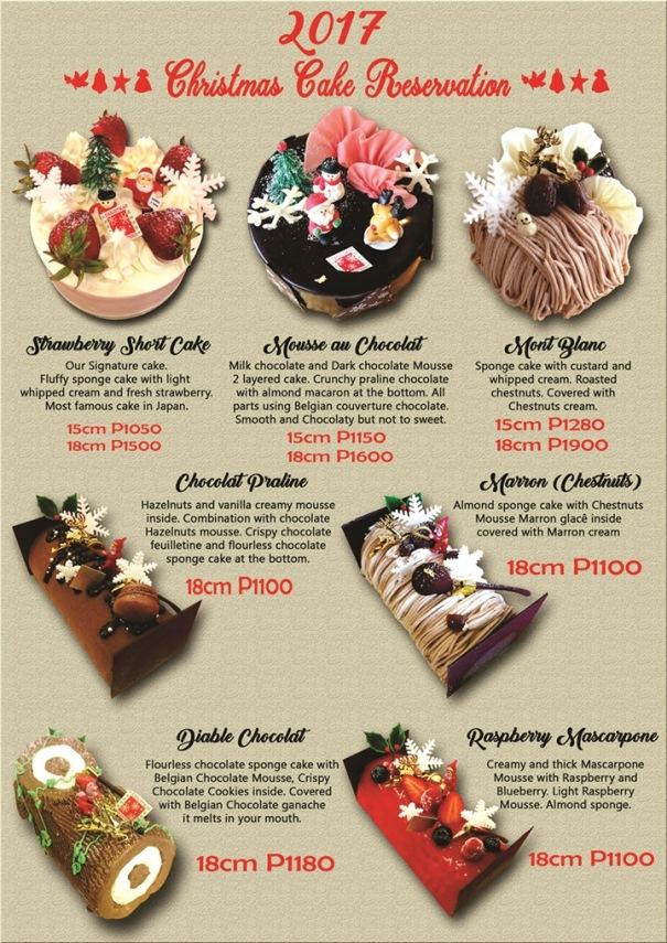 Ptisserie BEBE Rougeu0027s elaborately decorated Christmas cakes