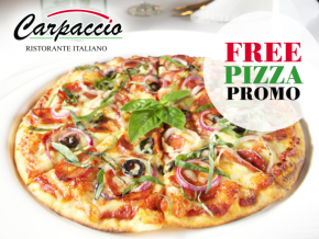 Carpaccio Ristorante Italiano in Makati holds their Free Pizza Promo