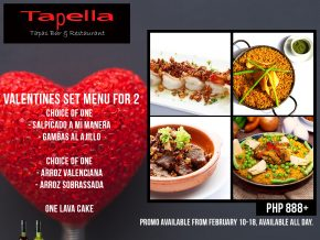 Indulge in a romantic dinner for two at Tapella
