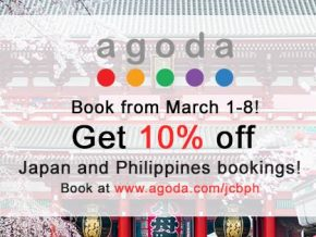 Use your JCB Card to redeem a 10% discount on agoda!