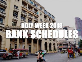 Banking Schedules this Holy Week