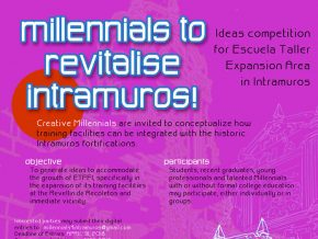 CALL FOR ENTRIES: MillenniaIs to Revitalise Intramuros