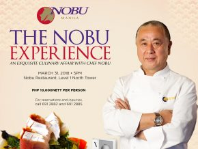 Celebrity Chef Nobu Matsuhisa to hold a one-night culinary affair in Manila