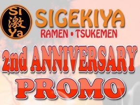 Sigekiya celebrates 2nd anniversary with exciting promos this April!