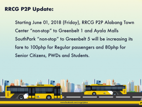 Greenbelt-Alabang 'Non-Stop' Buses Increase Fare