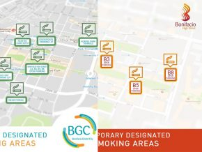 BGC announces location of Temporary Smoking Areas