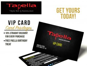 Tapella Now Has a VIP Card for Frequent Diners