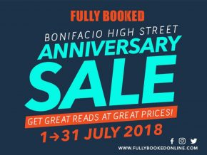 Fully Booked BGC: Anniversary Sale for Whole Month of July