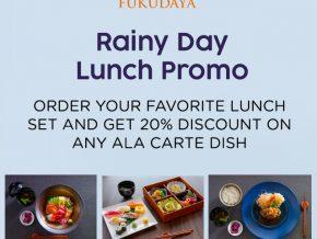 Enjoy Discounts This Rainy Season at Fukudaya in BGC!