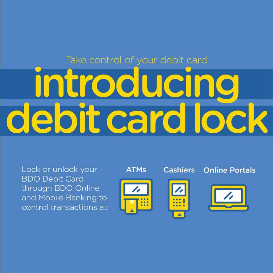 BDO's New Lock/Unlock Feature Lets You Control Your Debit