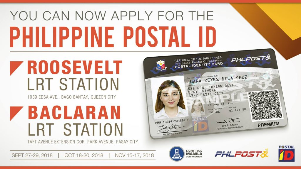 Apply for a Postal ID at Select LRT-1 Stations Until