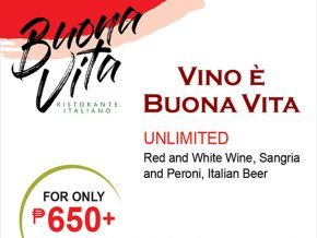 Buona Vita in Alabang's Last Hurrah Promo Offers Unlimited Drinks for Php 650