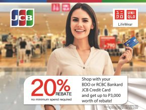 JCB Cardholders Can Get 20% Cash Rebate at UNIQLO