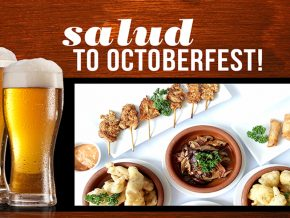 Salud to Octoberfest with Tapella's Promo for the Whole Month of October!