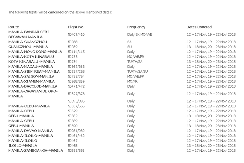 how to know if flight is cancelled cebu pacific