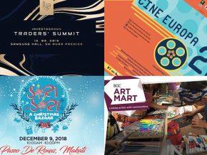 EVENTS IN MANILA: December 8-9, 2018