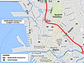 NLEX-SLEX Connector Road Project to Link C3 Road Caloocan to Santa Mesa and Skyway Stage 3