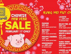 CNY Celebration Continues with Duty Free Fiestamall's Feb 17 Sale