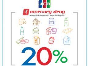 PROMO: Get 20% Cash Rebate with Your BDO & RCBC Bankard JCB Card at Mercury Drugstore