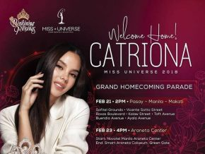 Route and Traffic Plan on Feb 21 for Catriona Gray's Homecoming Parade