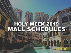 Holy Week Mall Schedules 2019
