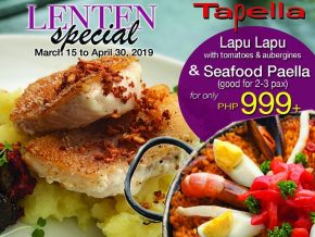 PROMO: Tapella Offers Meat-Free Menu this Lenten Season