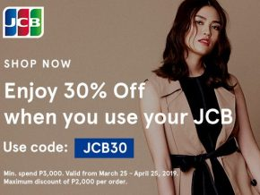 PROMO: 30% OFF at Zalora with your BDO & RCBC Bankard JCB Credit Card!