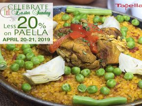 PROMO: Tapella Offers 20% Less on Paella Favorites this April 20-21