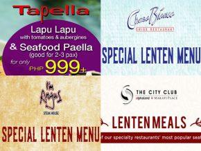 LIST: Restaurants that Offer Lenten Season Specials