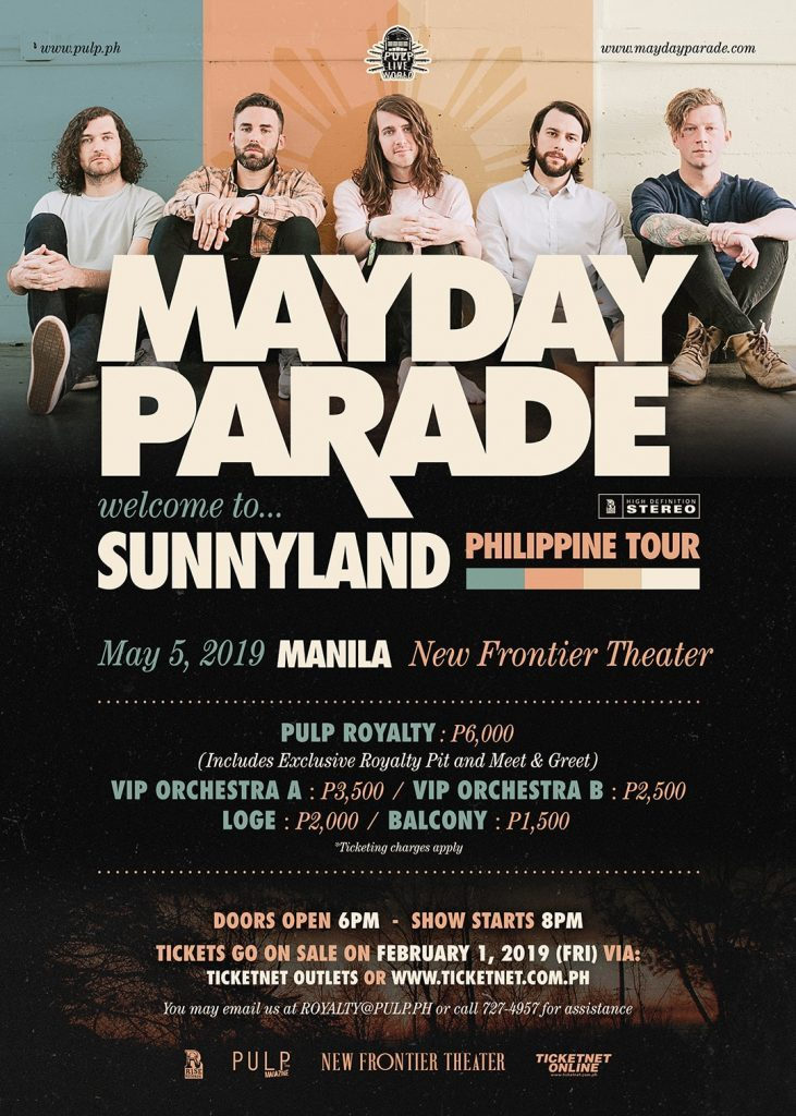 PROMO: Win FREE Tickets to Mayday Parade Concert in Manila
