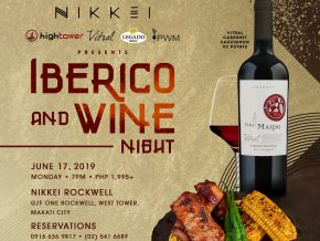 Nikkei Rockwell Presents Iberico and Wine Night on June 17