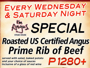 PROMO: Enjoy Prime Rib Night at I'm Angus Steakhouse!