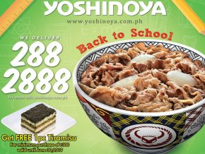 PROMO: Back-To-School Treat at Yoshinoya Philippines