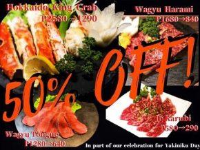 PROMO: Hokkaido Meat and Noodles Offers 50% Off on Yakiniku Day