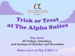 The Alpha Suites in Makati Offers Trick or Treat Staycation Package