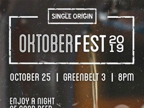Single Origin Celebrates Oktoberfest 2019 with Buy One, Get One Beers Galore