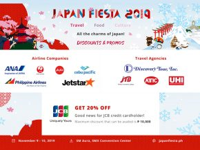 Enjoy Discounts and Promos at Japan Fiesta 2019