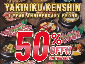 PROMO: Yakiniku Kenshin in Makati Offers 50% off on All Menu for 2 Days