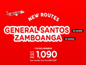 AirAsia Introduces Flights to General Santos City and Zamboanga