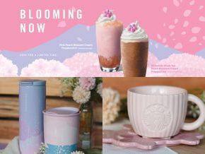 Starbucks Releases New Peach Frappuccino Blends and Cherry Blossom Collection
