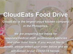 CloudEats Is Now Accepting Donations for the Meals of Frontliners
