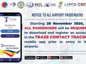 "DOTr Air Sector Simultaneously Soft Launches Contact Tracing App ""Traze"""