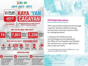LIST: Donation Drives for Affected Communities of Typhoon Ulysses