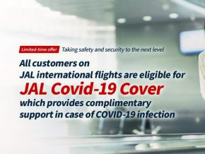 Japan Airlines to Offer Complimentary COVID-19 Medical Coverage for International Passengers