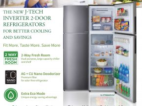 For Better Cooling and Savings: Sharp's New J-Tech Inverter 2-Door Refrigerators