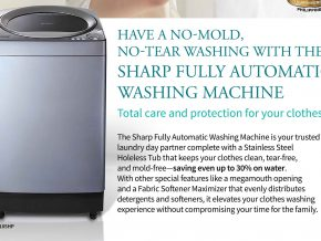 No Molds, No Tear: Introducing Sharp Fully Automatic Washing Machine