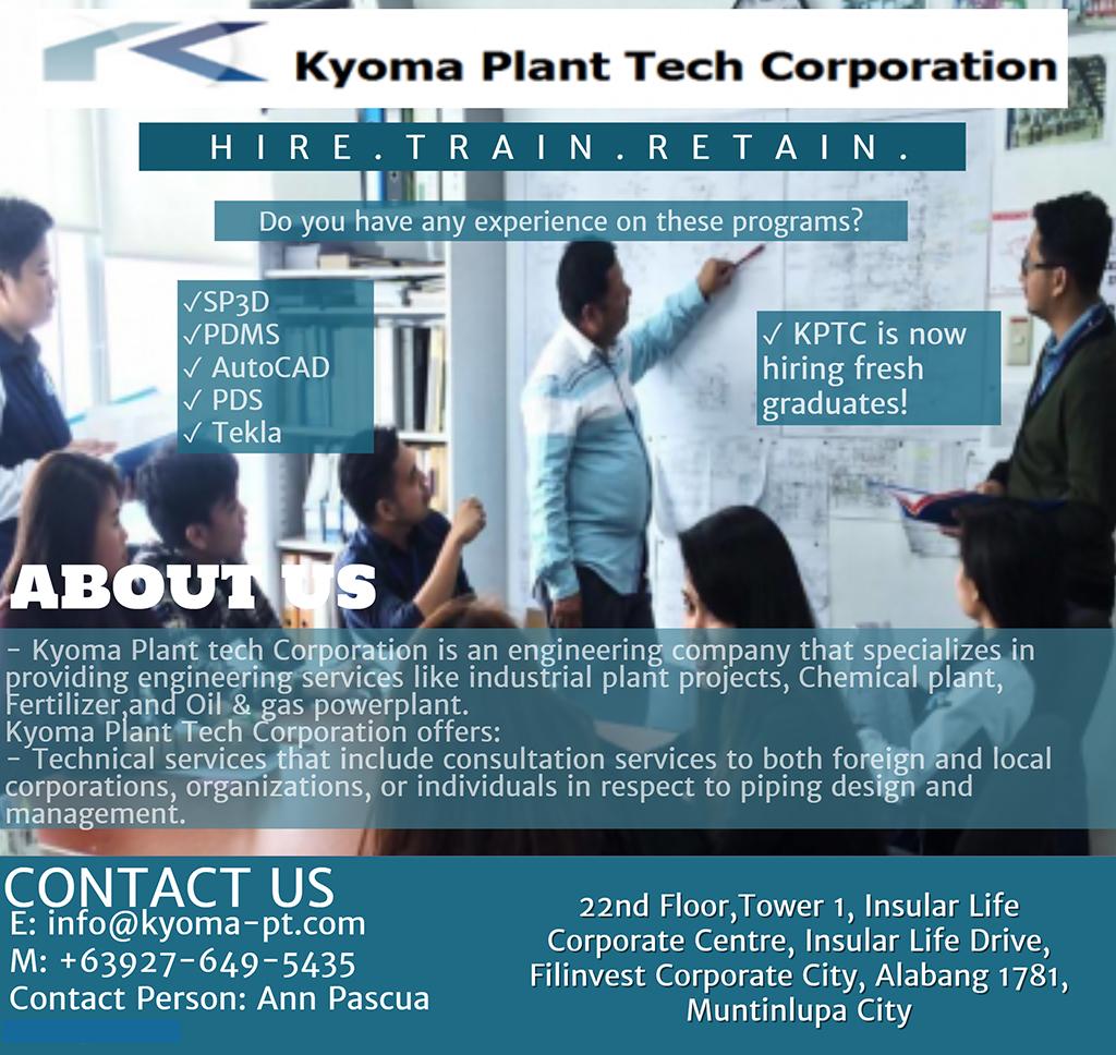 Kyoma Plant Tech Corporation in Alabang: Hire  Train  Retain