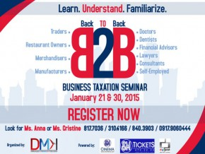 BUSINESS TAXATION SEMINAR BY SUZAN C. BIGAY CPA, CMA